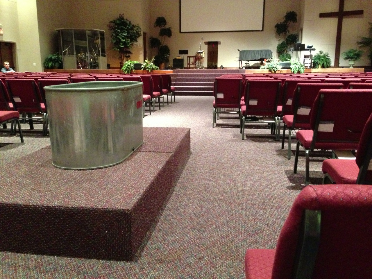 Had to rearrange some chairs in the worship center for this Sunday's sermon out of Jeremiah 2:9-13