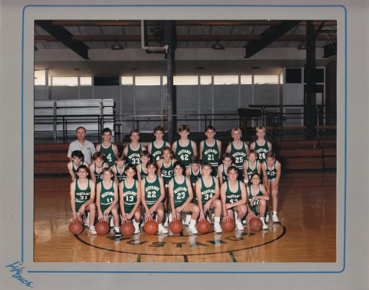 This is the picture of my 8th Grade basketball team .  . .
