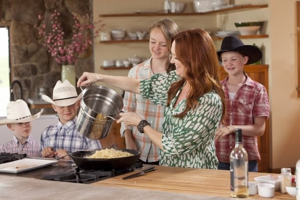 "Cooking shows are all the rage today, like ""The Pioneer Woman"""