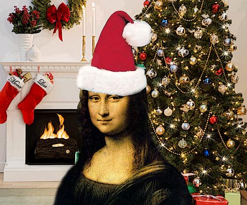 Mona Lisa Christmas