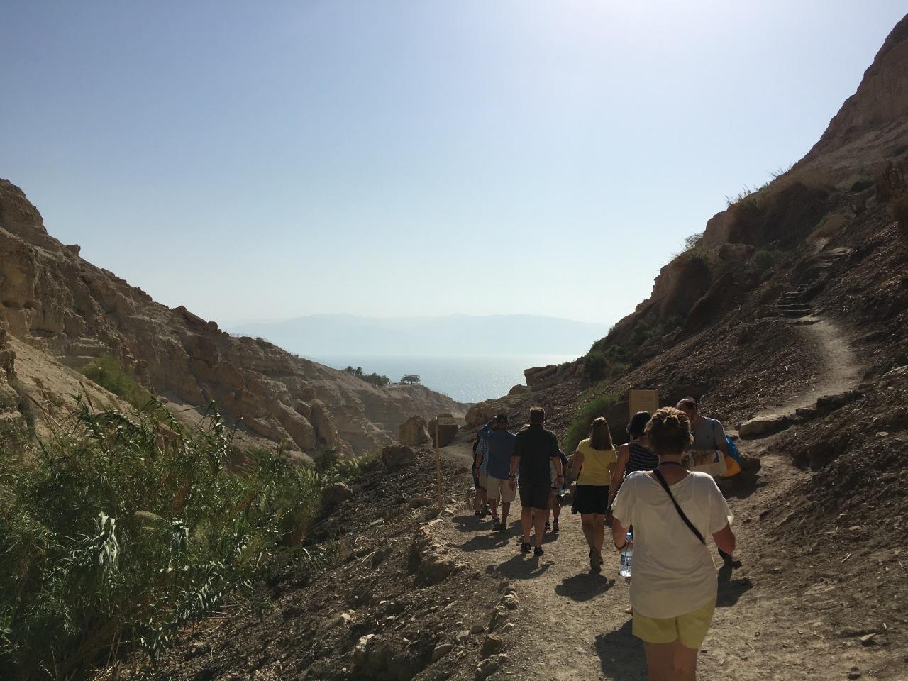 Hiking near the Dead Sea