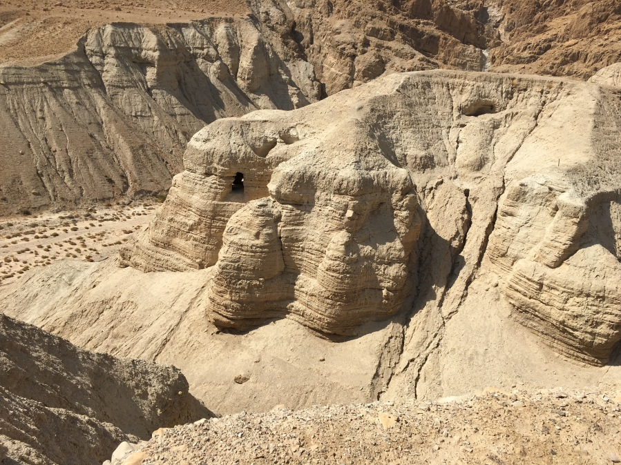 The caves at Qumran