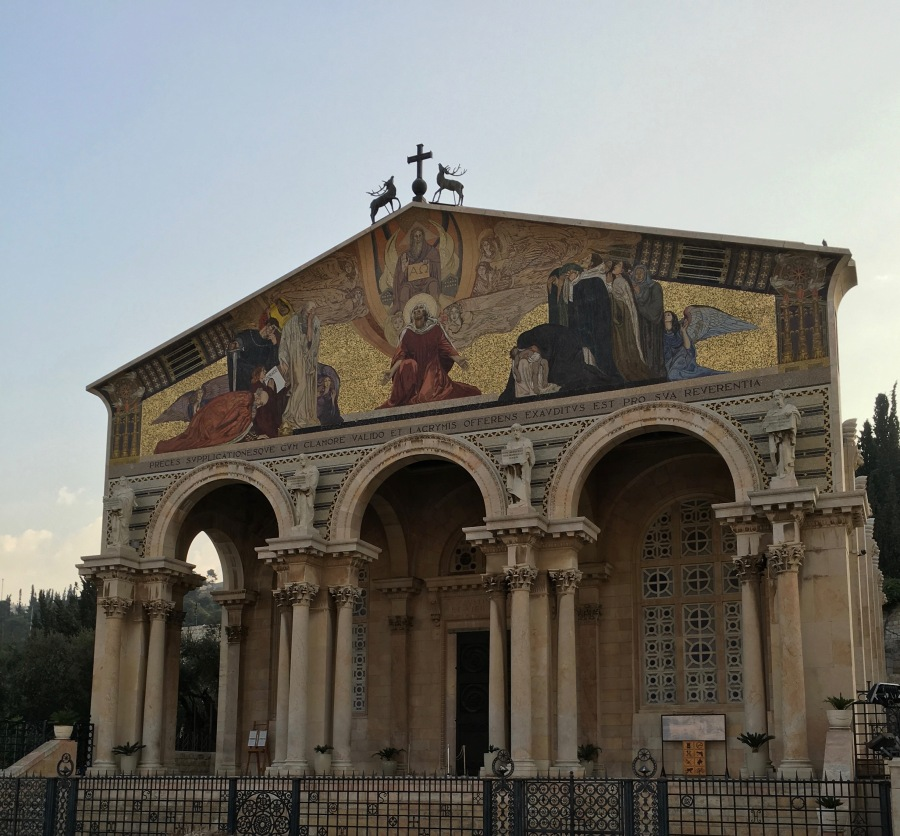 The Church of the Agony, commemorating the traditional site where the disciples fell asleep while Jesus prayed the night before HIs crucifixion.
