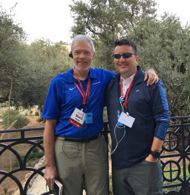 Mark Burget & I in Gethsemane