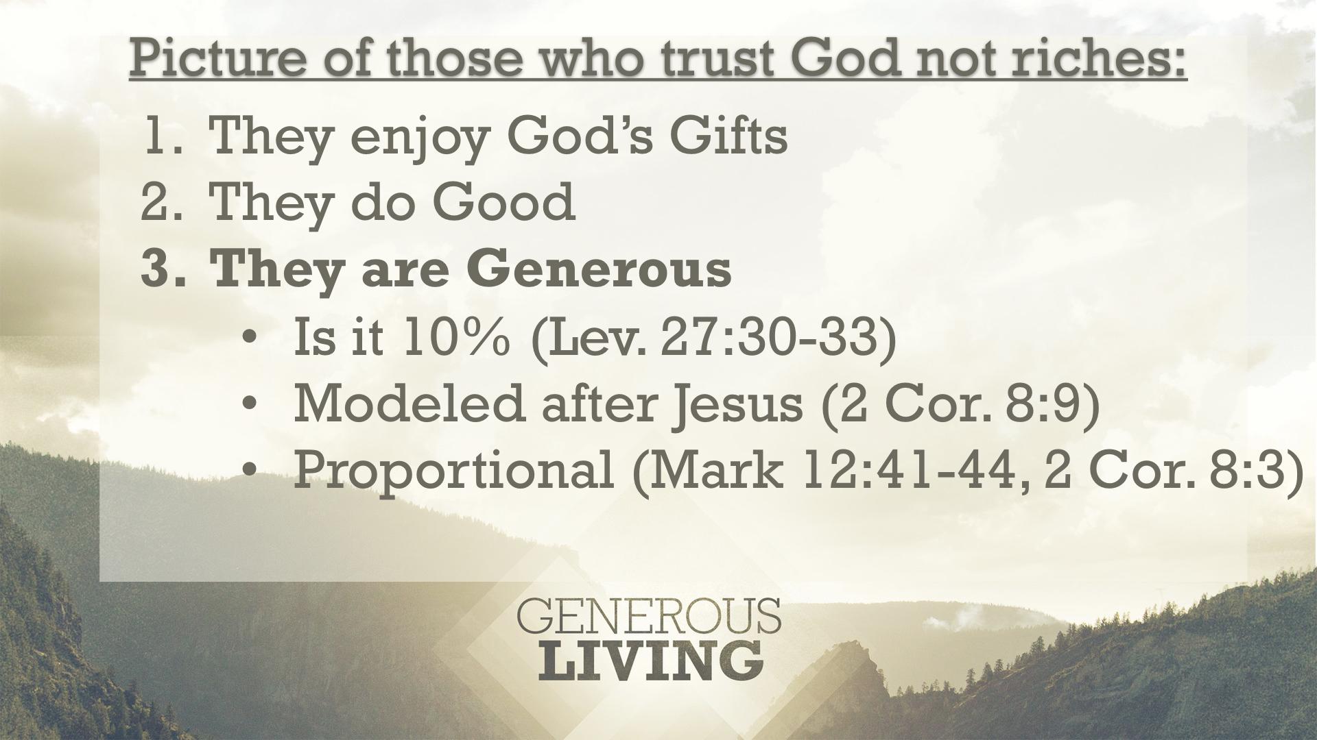 Generous Living Part 2 Slides Pastor Mark Robinson Com